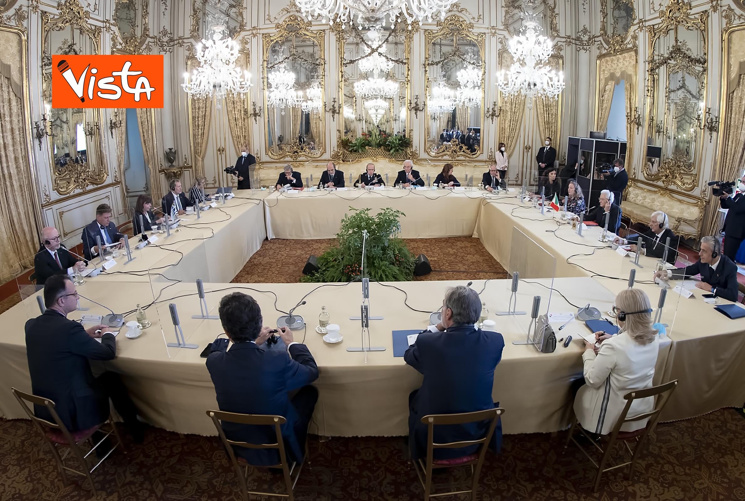 09-10-20 Mattarella riceve la Presidente della Repubblica Ellenica Sakellaropoulou, le immagini_13