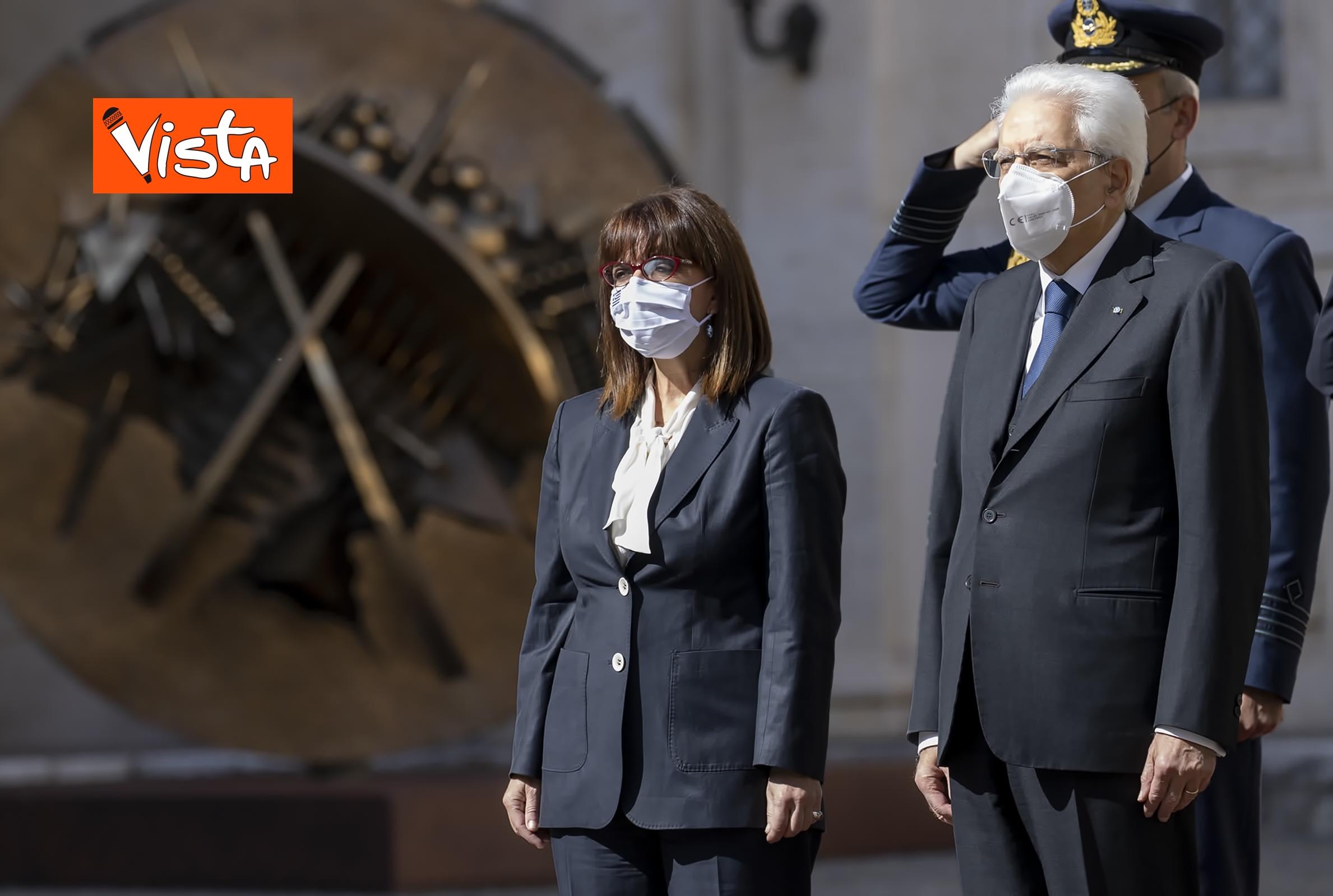 09-10-20 Mattarella riceve la Presidente della Repubblica Ellenica Sakellaropoulou, le immagini_04