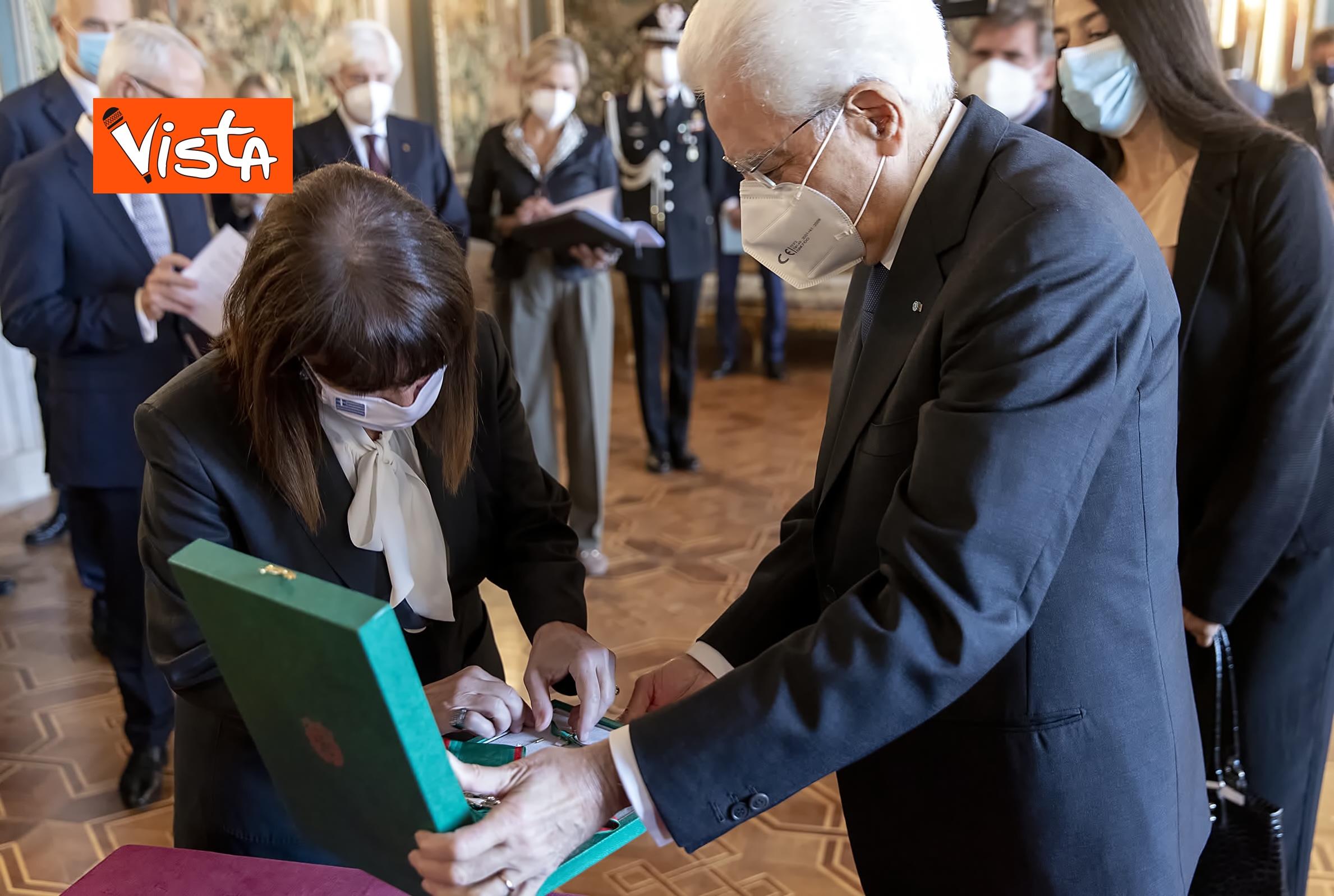 09-10-20 Mattarella riceve la Presidente della Repubblica Ellenica Sakellaropoulou, le immagini_11