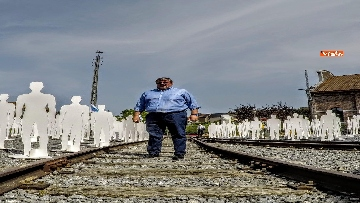 4 - L'iniziativa Ugl a Marcinelle, 262 sagome bianche per ricordare minatori morti 62 anni fa