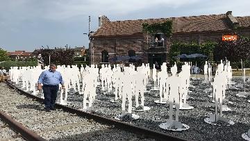 8 - L'iniziativa Ugl a Marcinelle, 262 sagome bianche per ricordare minatori morti 62 anni fa