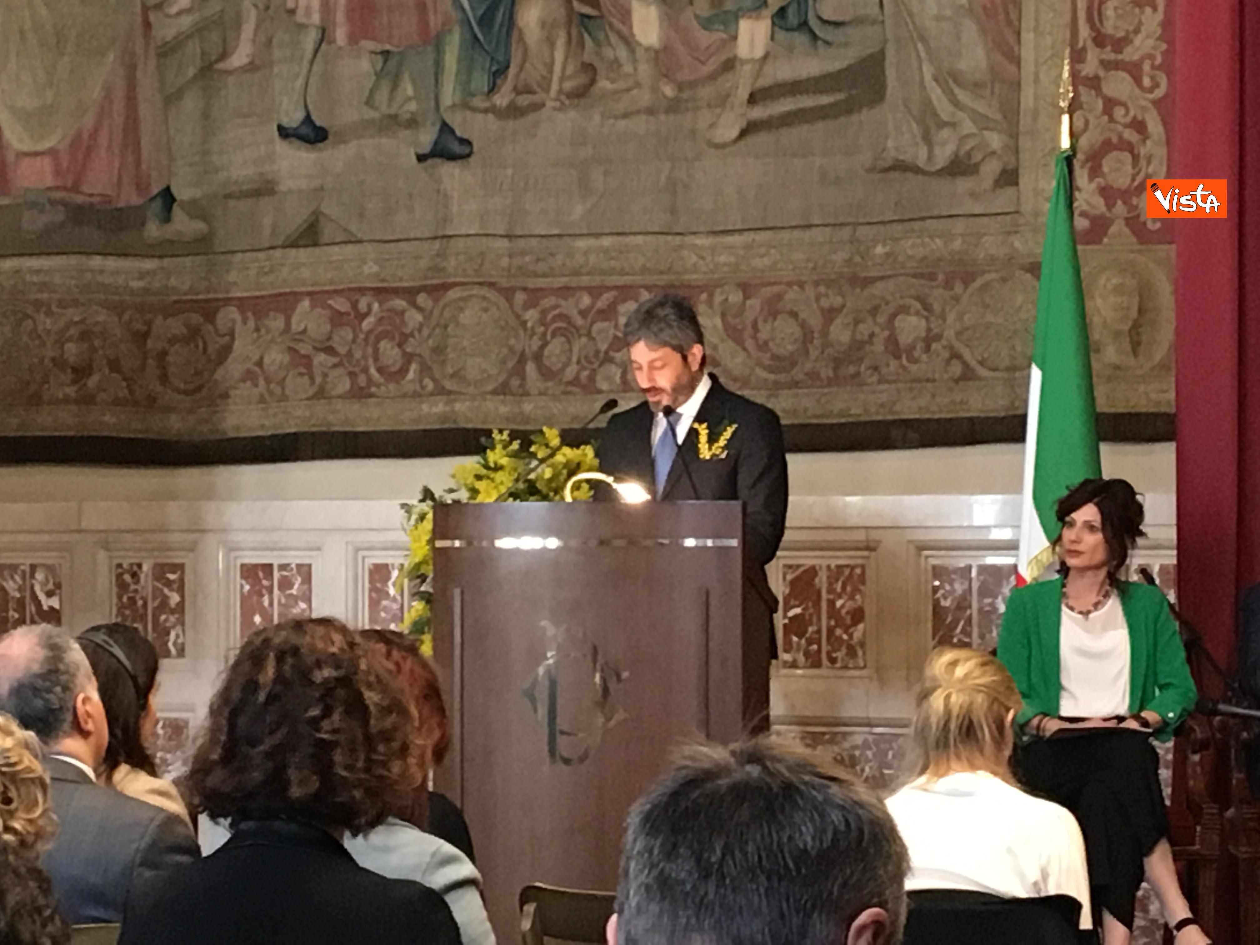 06-03-19 8 marzo a Montecitorio il convgeno Donne pace e sicurezza con il presidente Fico immagini