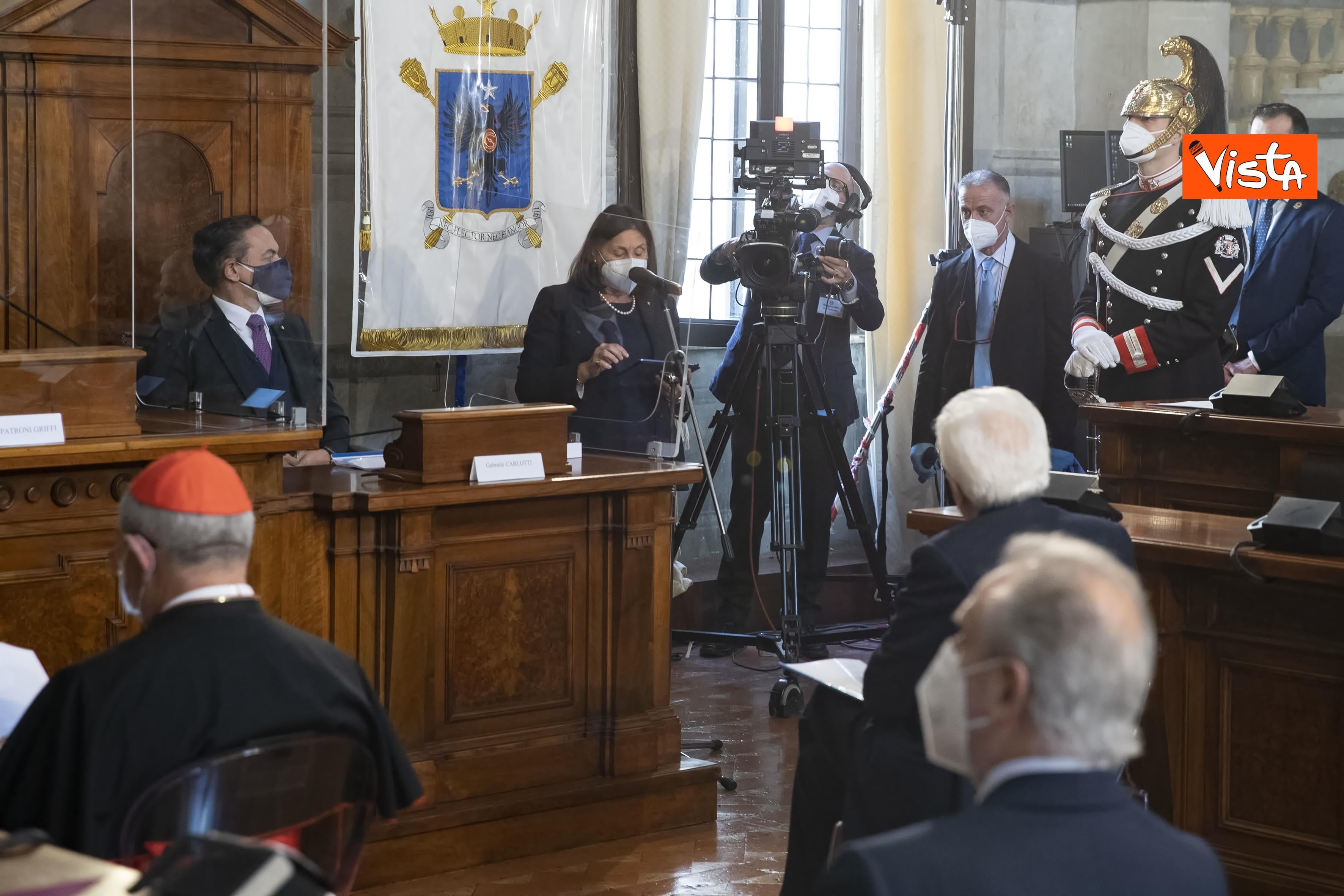 Il Presidente della Repubblica Sergio Mattarella in occasione della cerimonia di presentazione della Relazione 2020 _03