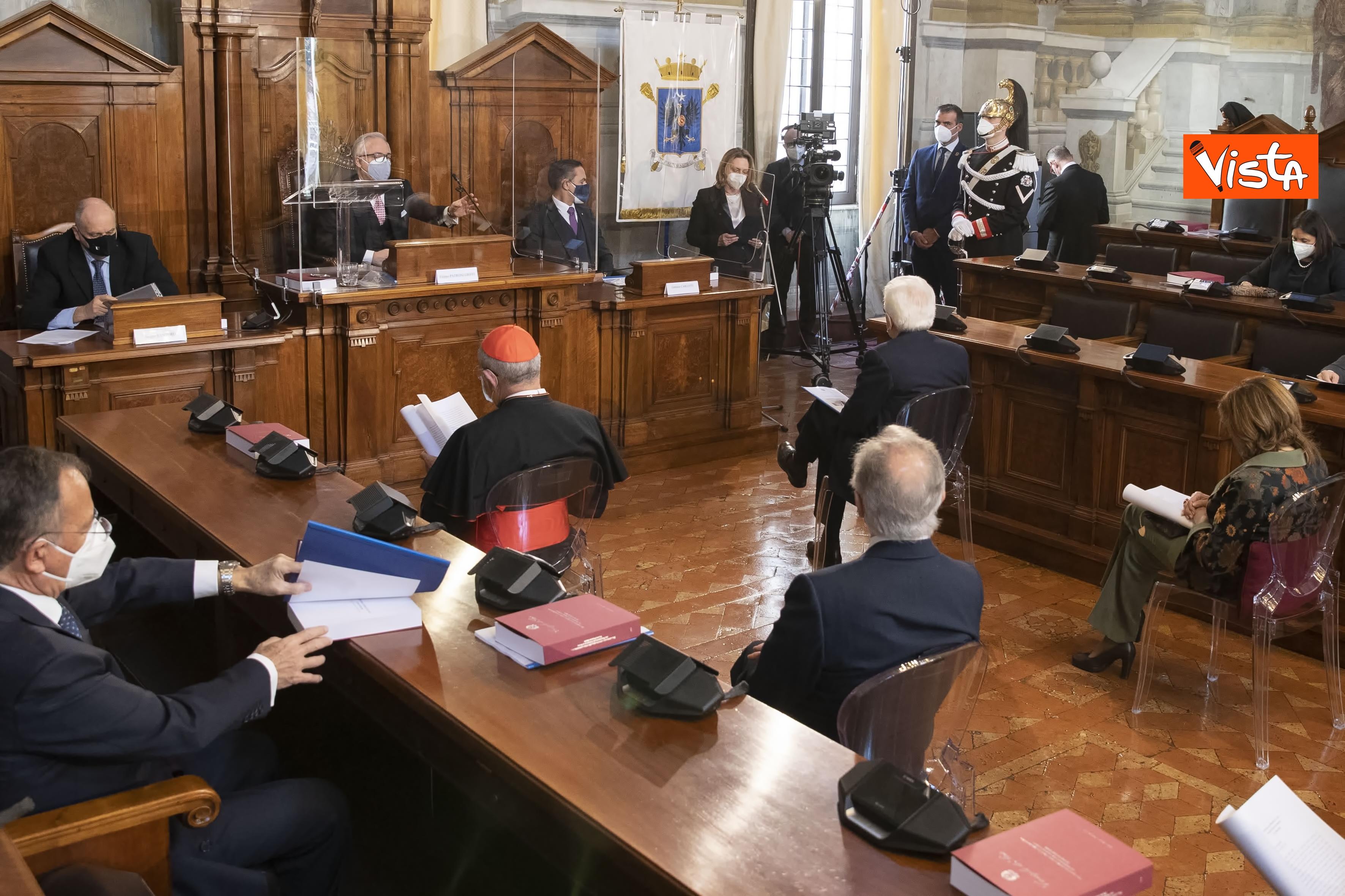 Il Presidente della Repubblica Sergio Mattarella in occasione della cerimonia di presentazione della Relazione 2020 _04