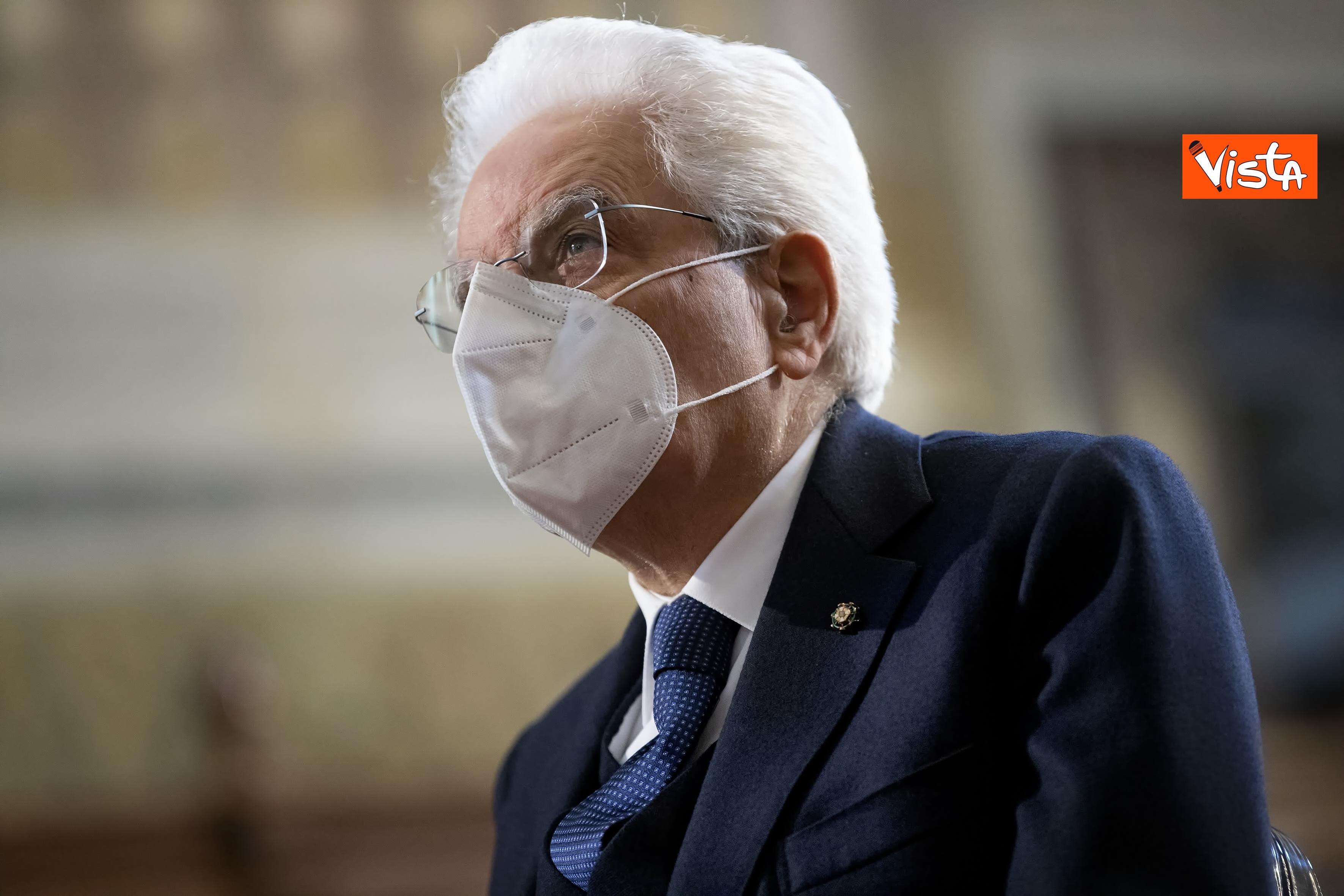 Il Presidente della Repubblica Sergio Mattarella in occasione della cerimonia di presentazione della Relazione 2020 _02