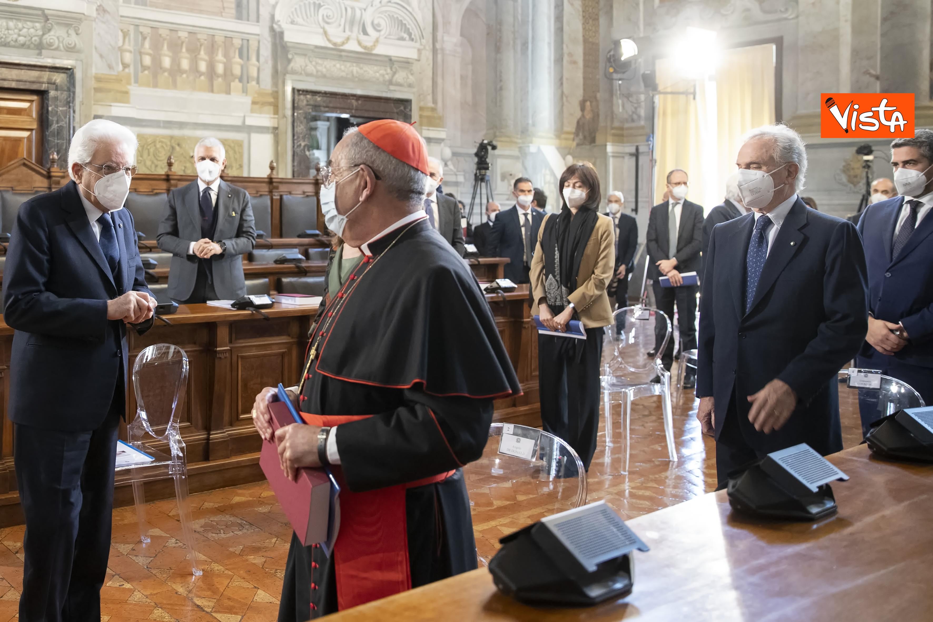 Il Presidente della Repubblica Sergio Mattarella in occasione della cerimonia di presentazione della Relazione 2020 _05