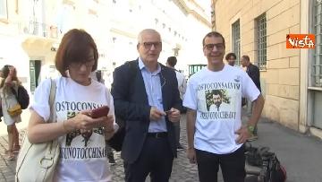 4 - #IoStoConSalvini, senatori Lega in piazza per esprimere solidarietà a ministro dell'Interno
