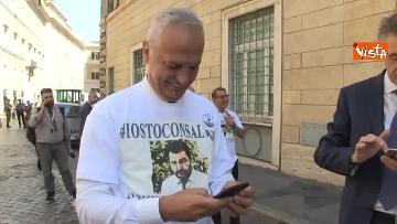 3 - #IoStoConSalvini, senatori Lega in piazza per esprimere solidarietà a ministro dell'Interno
