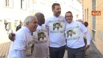 6 - #IoStoConSalvini, senatori Lega in piazza per esprimere solidarietà a ministro dell'Interno