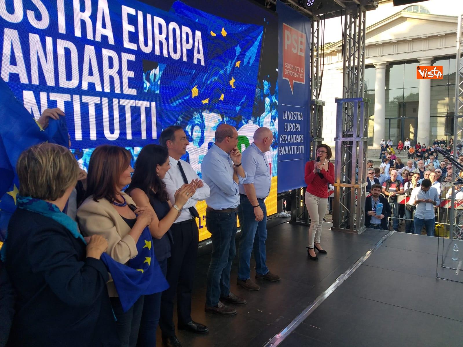 Europee Zingaretti  a Milano
