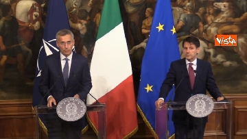 6 - Conte incontra Stoltenberg a Palazzo Chigi