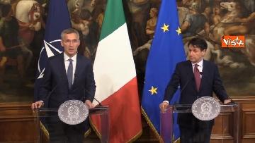 5 - Conte incontra Stoltenberg a Palazzo Chigi