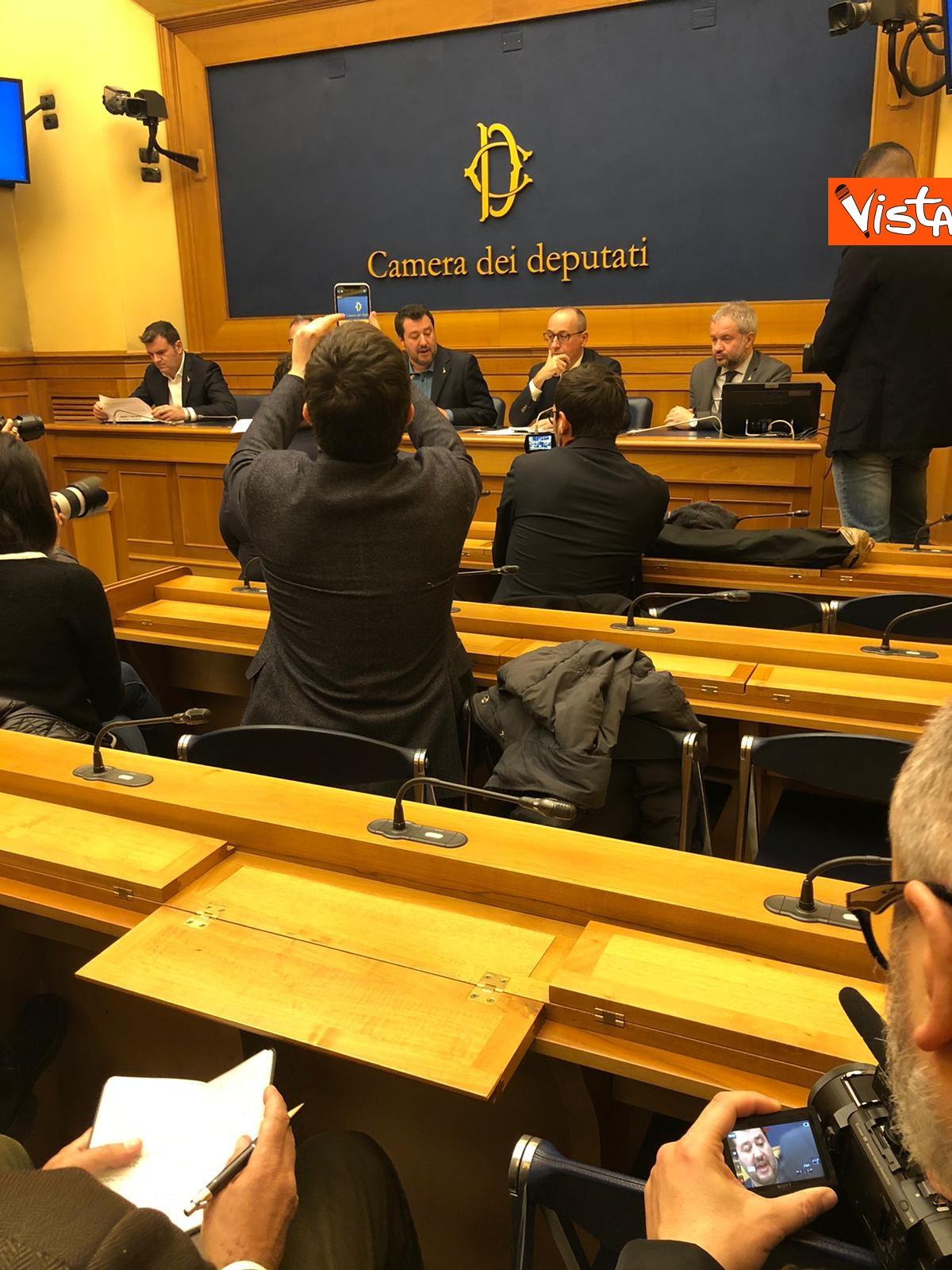 La conferenza di Salvini alla Camera dei Deputati