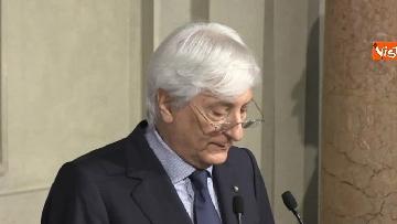 10 - Roberto Fico e il segretario generale del Quirinale Ugo Zampetti dichiarano al termine delle Consultazioni