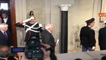 13 - Mattarella al termine delle consultazioni comunica l'esito dei colloqui alla stampa immagini