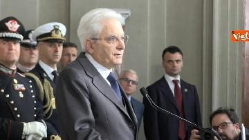 7 - Mattarella al termine delle consultazioni comunica l'esito dei colloqui alla stampa immagini