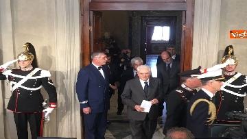 17 - Mattarella al termine delle consultazioni comunica l'esito dei colloqui alla stampa immagini