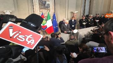 18 - Mattarella al termine delle consultazioni comunica l'esito dei colloqui alla stampa immagini