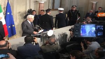 15 - Mattarella al termine delle consultazioni comunica l'esito dei colloqui alla stampa immagini