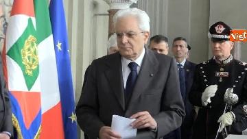 8 - Mattarella al termine delle consultazioni comunica l'esito dei colloqui alla stampa immagini