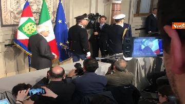 14 - Mattarella al termine delle consultazioni comunica l'esito dei colloqui alla stampa immagini