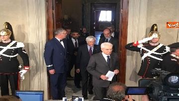 11 - Mattarella al termine delle consultazioni comunica l'esito dei colloqui alla stampa immagini