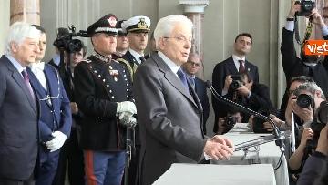 6 - Mattarella al termine delle consultazioni comunica l'esito dei colloqui alla stampa immagini