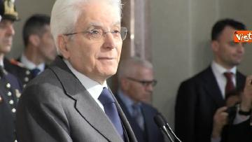 5 - Mattarella al termine delle consultazioni comunica l'esito dei colloqui alla stampa immagini