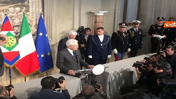 16 - Mattarella al termine delle consultazioni comunica l'esito dei colloqui alla stampa immagini
