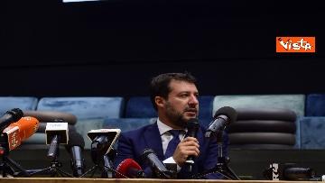 1 - Salvini e Bongiorno la conferenza stampa dopo l'udienza preliminare, le foto