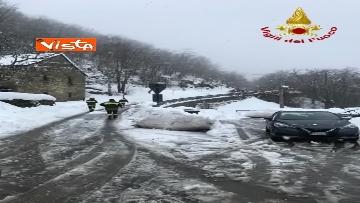 """4 - Maltempo e neve, Vigili del fuoco: """"150 interventi in 24 ore tra Veneto e Toscana"""". Le immagini"""