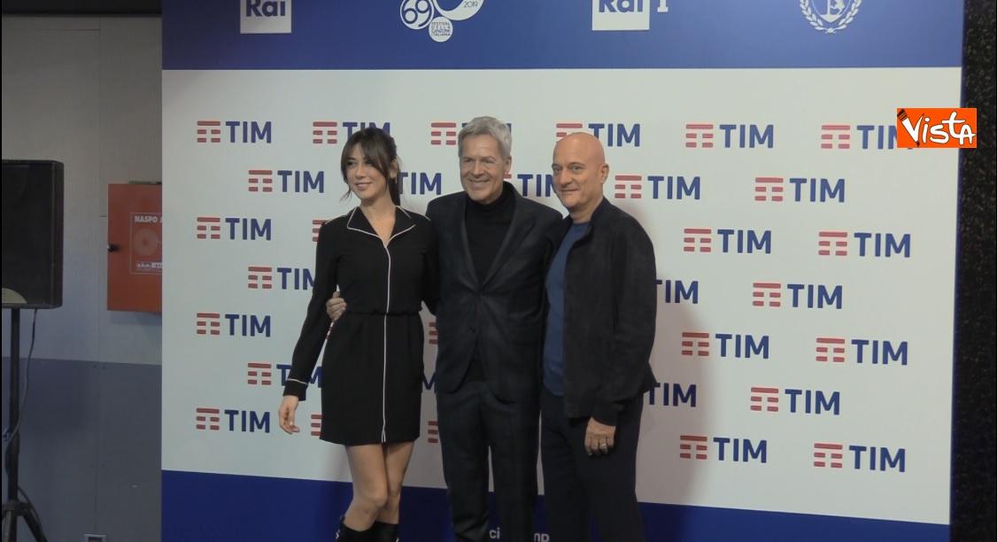 Claudio Bisio, Virginia Raffaele e Claudio Baglioni