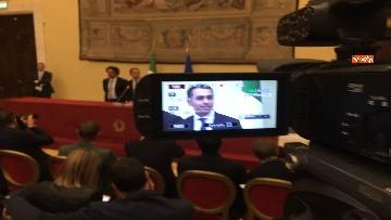 11 - Consultazioni, Di Maio, Toninelli e Giulia Grillo a Montecitorio