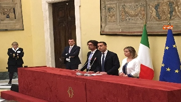 8 - Consultazioni, Di Maio, Toninelli e Giulia Grillo a Montecitorio