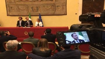 6 - Consultazioni, Di Maio, Toninelli e Giulia Grillo a Montecitorio