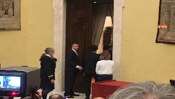 3 - Consultazioni, Di Maio, Toninelli e Giulia Grillo a Montecitorio