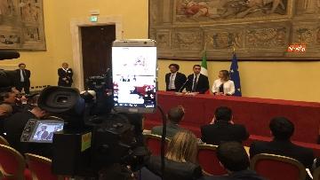13 - Consultazioni, Di Maio, Toninelli e Giulia Grillo a Montecitorio