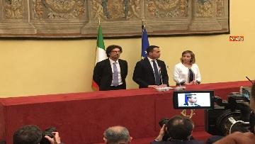 16 - Consultazioni, Di Maio, Toninelli e Giulia Grillo a Montecitorio