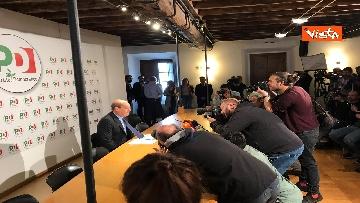 7 - Zingaretti incontra la stampa al Nazareno