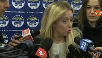1 - La leader di FdI Giorgia Meloni io giorno dopo le elezioni