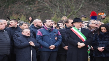 5 - Il ministro Salvini alla Foiba di Basovizza