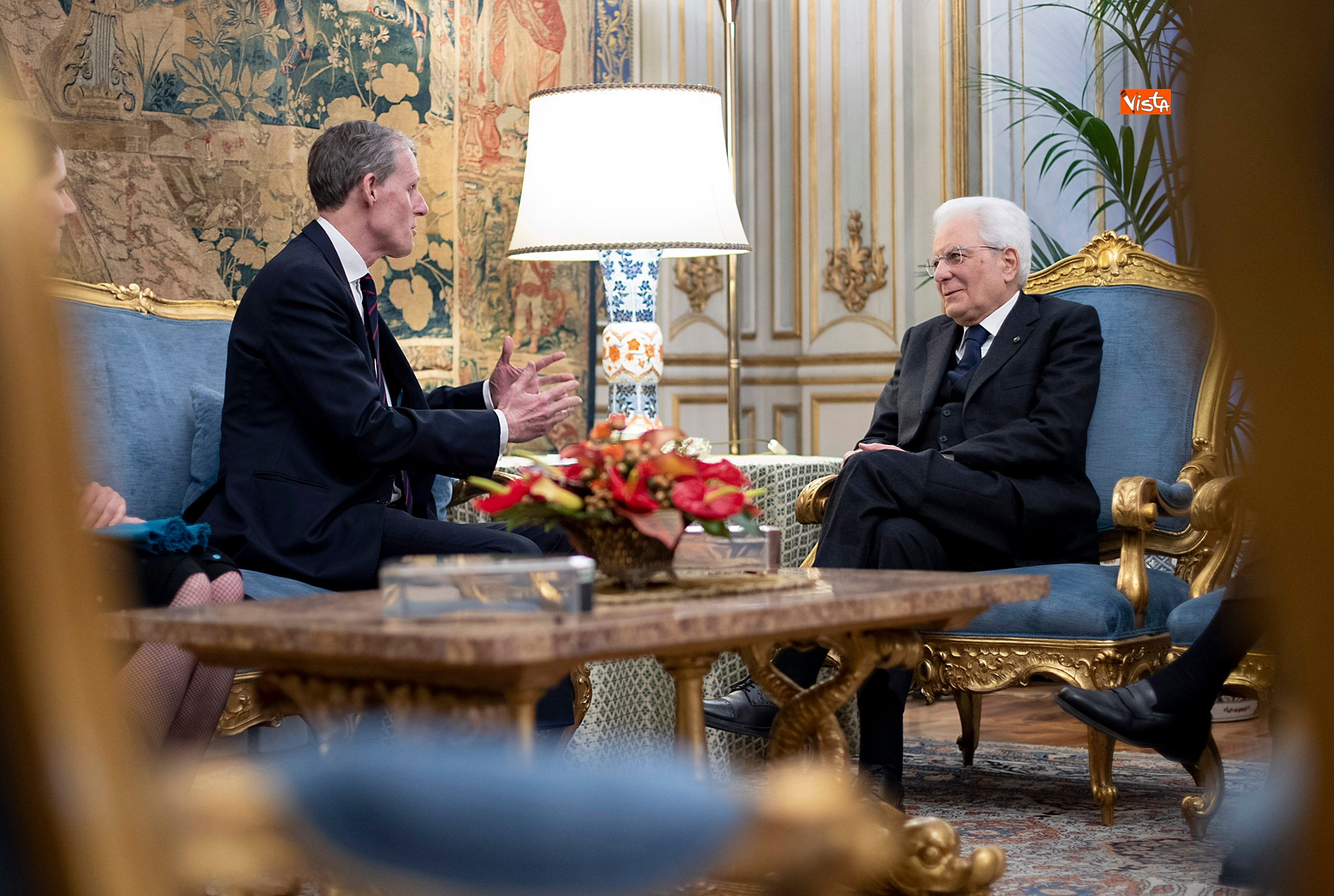 Mattarella incontra l'ambasciatore francese Masset al Quirinale