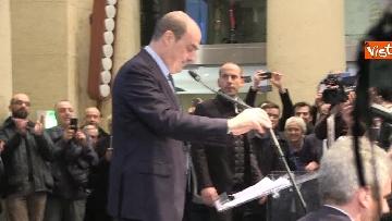 4 - FOTO GALLERY - Zingaretti riconfermato presidente della Regione Lazio, il discorso al Tempio di Adriano