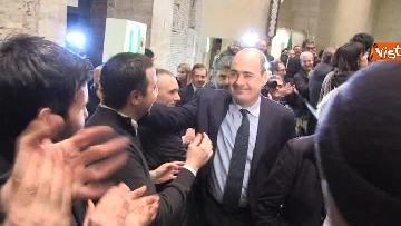 1 - FOTO GALLERY - Zingaretti riconfermato presidente della Regione Lazio, il discorso al Tempio di Adriano