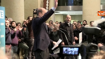 9 - FOTO GALLERY - Zingaretti riconfermato presidente della Regione Lazio, il discorso al Tempio di Adriano