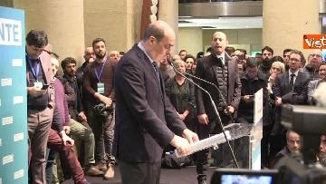 7 - FOTO GALLERY - Zingaretti riconfermato presidente della Regione Lazio, il discorso al Tempio di Adriano