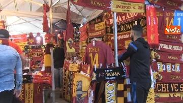 1 - Roma-Liverpool, le immagini fuori dall'Olimpico