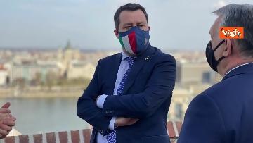 4 - Salvini incontra il primo ministro ungherese Orban e quello polacco Morawieck. Le immagini