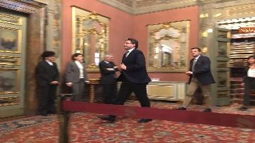 7 - Giorgetti e Centinaio al termine delle Consultazioni al Senato
