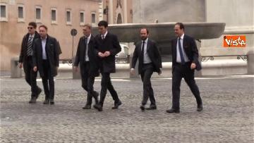 1 - Consultazioni, il Pd al Quirinale guidato da Martina, Orfini, Delrio e Marcucci